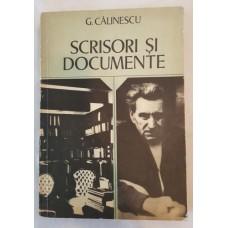 G. Calinescu - Scrisori si documente