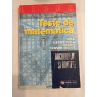 C. Nita   D. Savulescu   C. Chites - Teste de matematica - bacalaureat si admitere