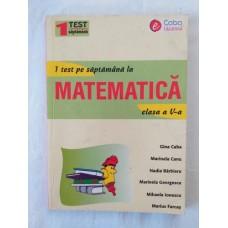 1 test pe saptamana la matematica - clasa a V-a