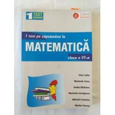 1 test pe saptamana la matematica - clasa a VI-a