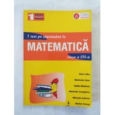 1 test pe saptamana la matematica - clasa a VII-a