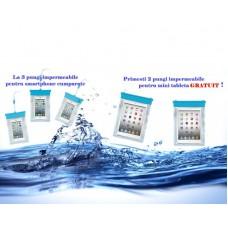 Pachet 3 pungi impermeabile Smartphone   2 pungi impermeabile Mini Tableta 7